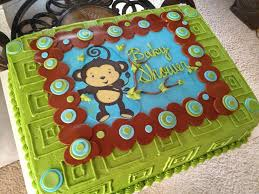 monkey boy baby shower cake babyshower cakes pinterest boy
