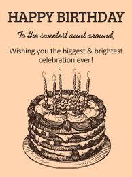 classic birthday cake card aunt birthday u0026 greeting cards