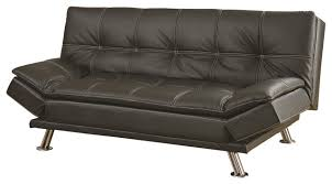 metal leg faux leather sofa bed futon midcentury futons by