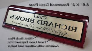 Desk Name Plates Wood Custom Desk Name Plates Plaquesandpatches Regarding Attractive