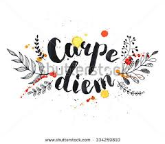 written quote carpe diem stock vector 334259810