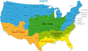 United States Climate Regions Map by Summer Lawncare For July 2013 Garden Club