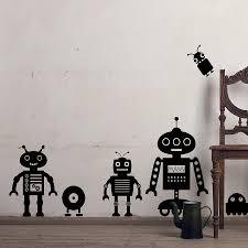 wall decor robot wall sticker interior home design and decor robot wall stickers superb robot wall sticker