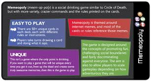 Drinking Game Meme - memeopoly the ultimate drinking game