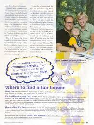 Alton Brown Kitchen Gear by Alton U0027s Interview On 99x
