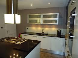 meuble de cuisine plan de travail awesome cuisine noir plan de travail bois blanc images design