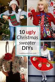 ugly christmas sweater diys cuddles and chaos