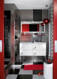 gray and black bathroom ideas red and black bathroom simple round shower pale white curtain