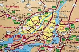 Road Map Of Canada by Road Map Of The Montreal City Area Quebec Canada Stock Photo