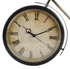 metal wall fashioned bicycle clock ornament vintage large