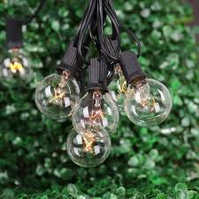 g40 string lights with 25 g40 clear globe bulbs listed for indoor