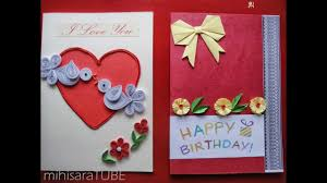 homemade greeting cards youtube