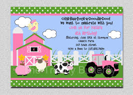 birthday invites surprising farm birthday invitations design