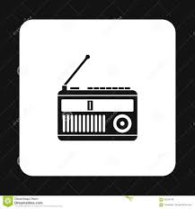 Radio Black Background Radio Receiver Icon Simple Style Stock Vector Image 83328149