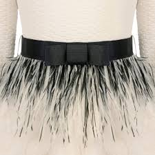ostrich feather l shade miss grant girls off white dress with ostrich feathers and bow