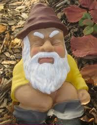 inappropriate lawn decorations nature s call garden gnome