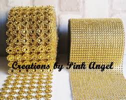diamond mesh ribbon gold mesh ribbon etsy
