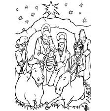 merry christmas nativity coloring getcoloringpages