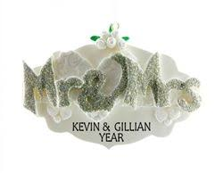 Personalized Wedding Ornament 7 Best Personalised Wedding Ornaments Images On Pinterest