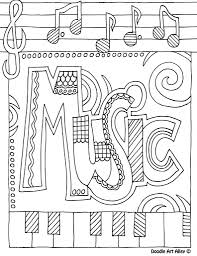 coloring pages music fablesfromthefriends com