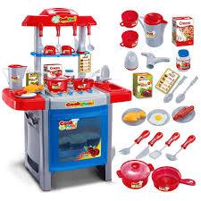 Toy Kitchen Set Food Kids Children Pretend Role Play Toys Mini Chef Kitchen Utensils