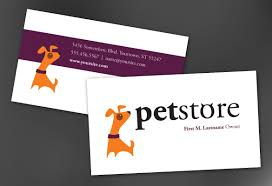business card template for pet store design order custom business