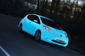 nissan leaf youtube commercial nissan leaf goes glow in the dark with luminous paint upgrade