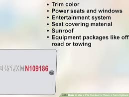 4 ways to use a vin number to check a car u0027s options wikihow