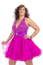 beaded halter ruched sweetheart short pick ups fuchsia plus size