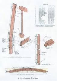 Craftsman Furniture Plans 1861 Craftsman Rocking Chair Plans Furniture Plans 의자