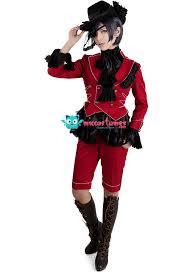 Butler Halloween Costume Black Butler Ciel Phantomhive Red Cosplay Costume Sales