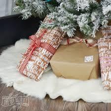 faux fur tree skirt make a no sew faux fur christmas tree skirt homeforchristmas the