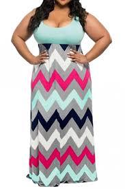 light blue tank dress womens plus size zigzag printed maxi tank dress light blue pink queen
