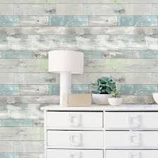 Wood Peel And Stick Wallpaper by Nuwallpaper Beachwood Peel U0026 Stick Wallpaper Feature Wall Wood