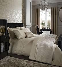diamante pleats duvet quilt cover set bed linen double king size