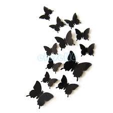 butterfly mirror effect wall stickers art mural decal modern butterfly mirror effect wall stickers art mural