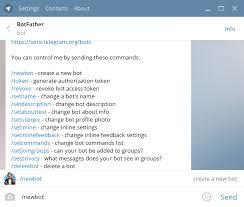 how do you send a telegram create a bot for telegram bot service microsoft docs