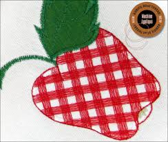 free kitchen embroidery designs gingham fruit machine applique kitchen towels aurifil 80wt thread