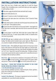 How To Install A Bidet Aquaus Bidet Installation Instructions Rinseworks