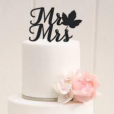 mr mrs cake topper wedding cake topper mr mrs cake decoration maple leaf design