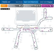 Charlotte Airport Gate Map Clt Terminal Map On Behance