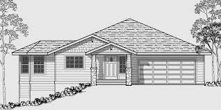bungalow floor plans with walkout basement side sloping lot house plans walkout basement house plans 10018