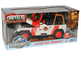jurassic park car toy jeep wrangler rubicon rot weiss jurassic park 1 24 jada modell