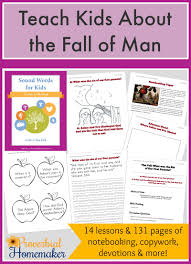 teach kids about the fall of man proverbial homemaker