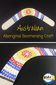 australian aboriginal boomerang craft kidz activities kid