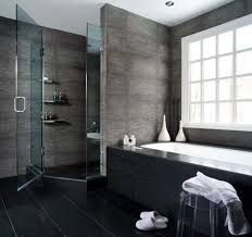 masculine small bathroom scheme presenting black accentuate for