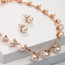 pearls necklace online images Jasmine pearl necklace set buy necklace sets online blingvine jpg