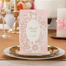 custom bridal shower invitations aliexpress buy 30pc lovely pink wedding invitations cards