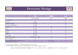 devis mariage organisation et décoration mariage nos prestations