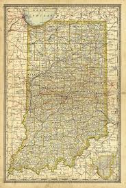 Map Indiana Old Map Of Indiana 1897 Indiana Map Large Indiana Map Antique